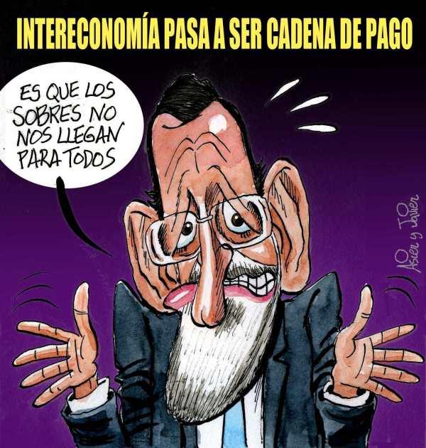 Intereconomía será de pago. Humor gráfico, caricatura.
