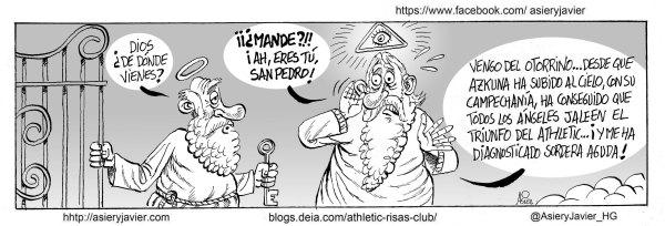 El Athletic da otro paso más hacia la Champions al ganar al Getafe en San Mamés. Viñeta
