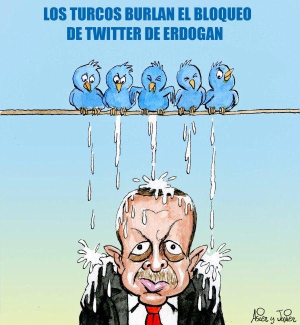 En El Jueves que ha salido hoy, Erdogan trata de limitar tuiter en Turquía