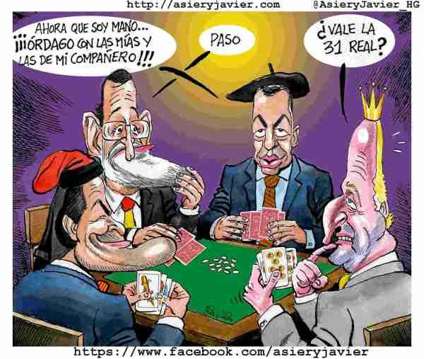 Urkullu anuncia un nuevo estatus para Euskadi en 2020. Humor, caricaturas.