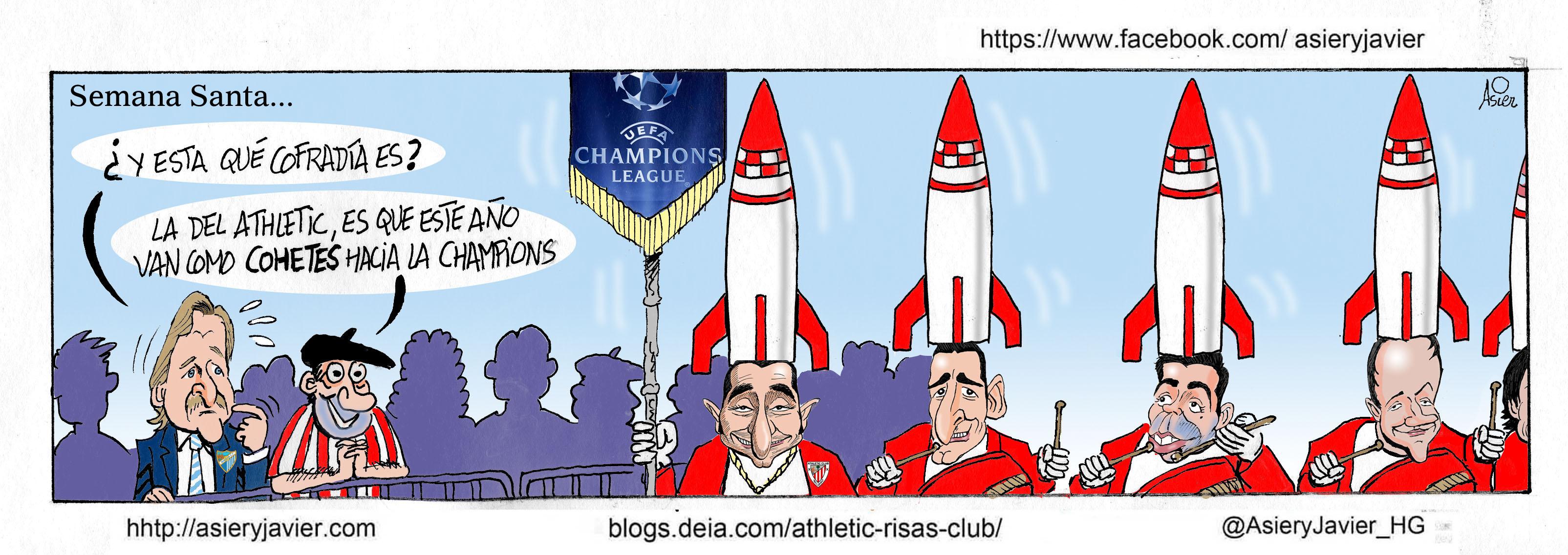 El Málaga  de Schuster comprueba que el Athletic va a por la Champions como un cohete