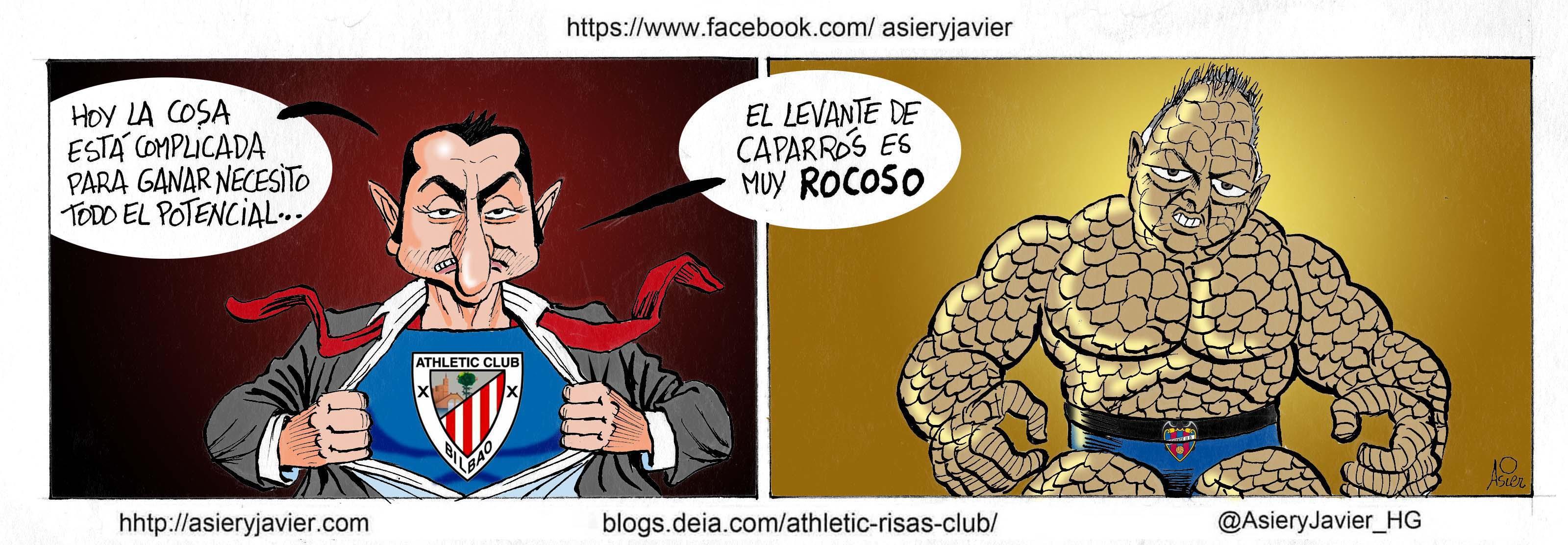 Valverde necesitará hoy todo el potencial del Athletic ante el rocoso Levante de Caparrós
