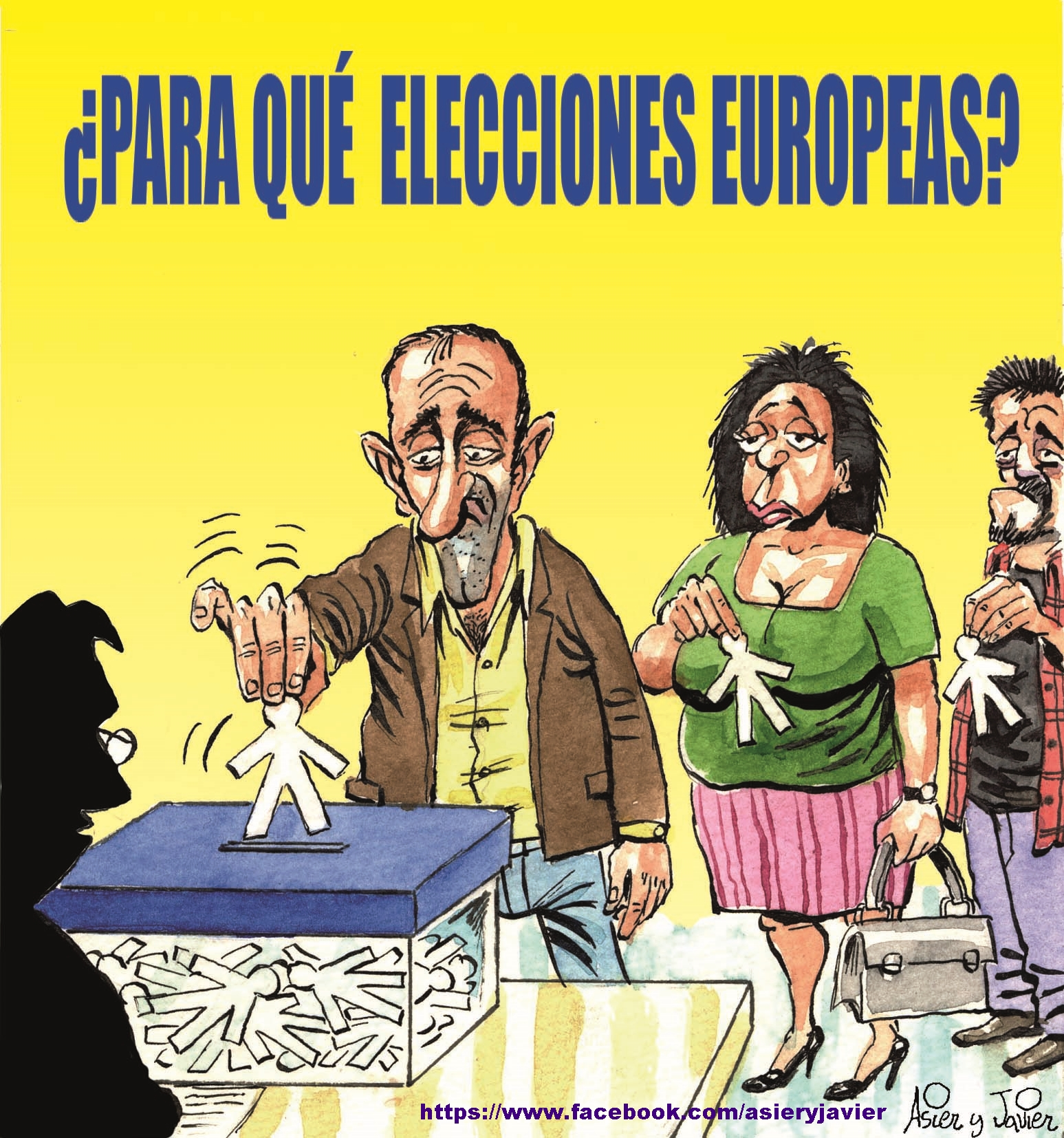 Empieza la campaña de las elecciones europeas. Viñeta.