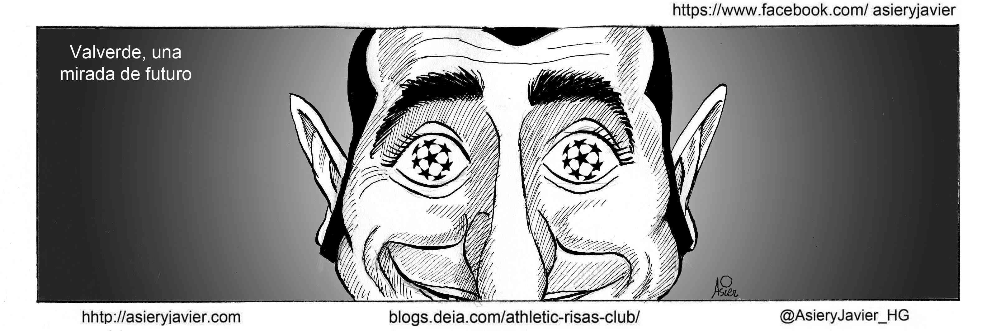 El Athletic de Valverde concluye la Liga con la mira puesta en la previa de Champions . Viñeta
