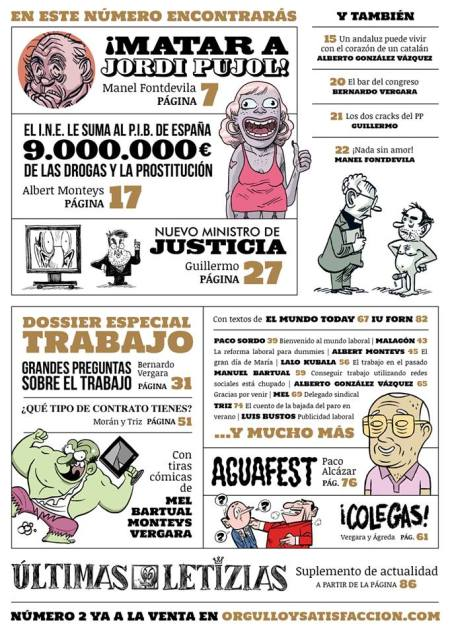 """""""ORGULLO Y SATISFACCIÓN"""", un nuevo número de humor online cada día 1 del mes. PINCHA EN LA IMAGEN Y DESCÁRGATELO!!"""