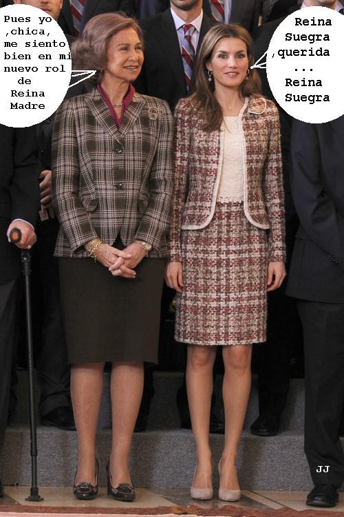 El nuevo papel de Sofía de Grecia respecto a Letizia. Humor, Felipe VI.