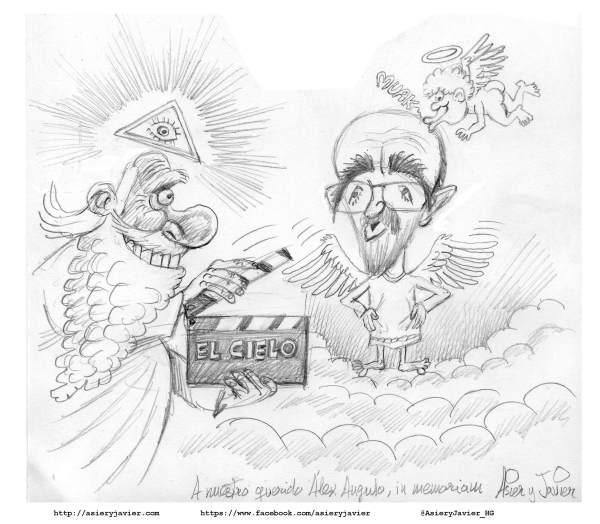 Las calle de Bilbao, el celuloide y las tablas del teatro echarán de menos a Alex Angulo. Viñeta in  memoriam.