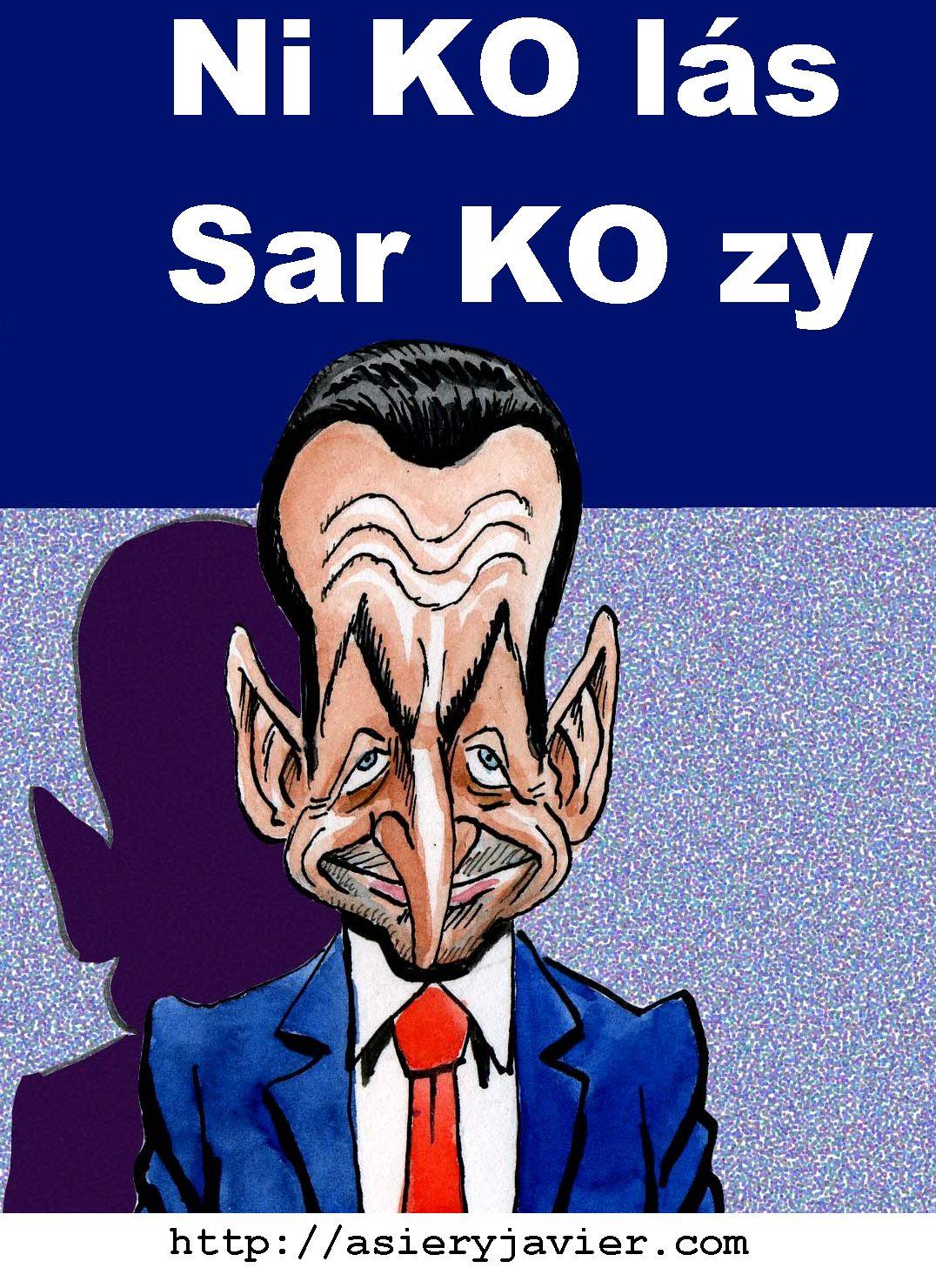 Sarkozy, imputado por corrupción. Viñeta.