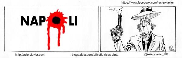 Iker Muniain disparó en San Paolo en la previa de la Champions del Athletic de Bilbao ante el Nápoles.