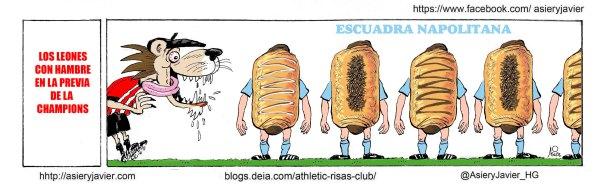 El Athletic se enfrenta en la previa de la Champions League a la escuadra napolitana.