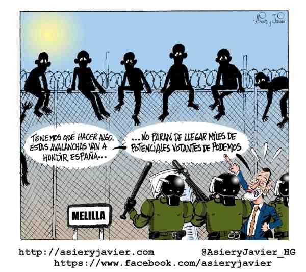 Rajoy, muy preocupado por la situación de los inmigrantes subsaharianos en la valla de Melilla