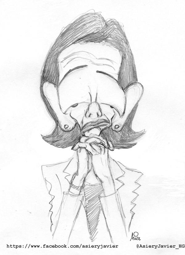 Boceto de caricatura de Ana Patricia Botín