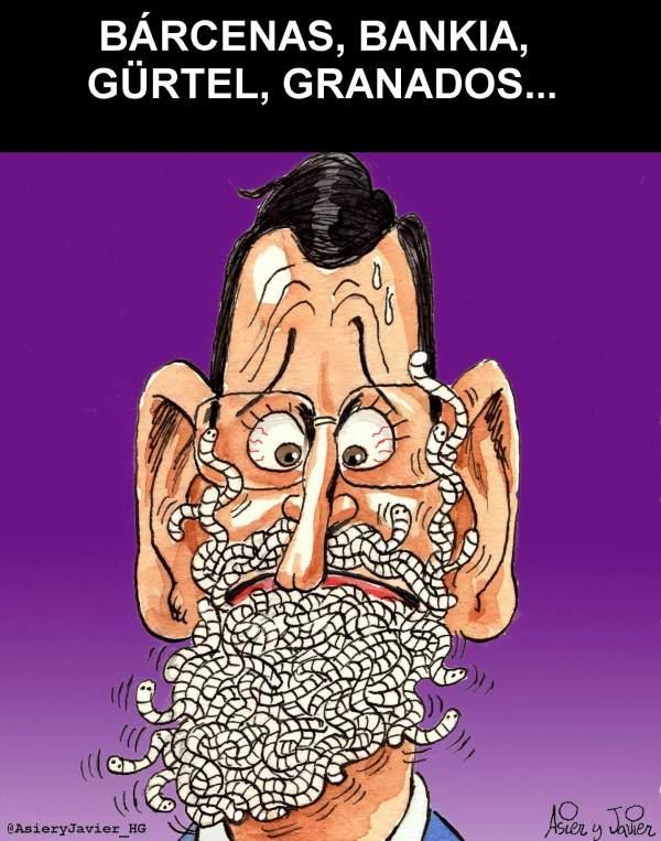 A Mariano Rajoy la corrupción se le sube a las barbas