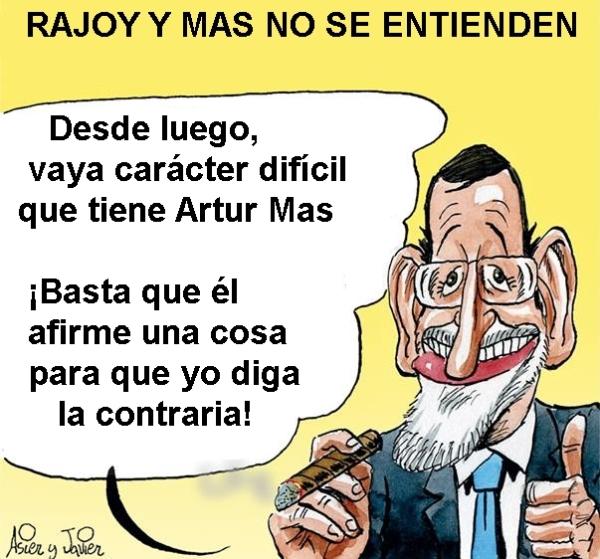 Mariano Rajoy y Artur Mas tienen problemas de entendimiento