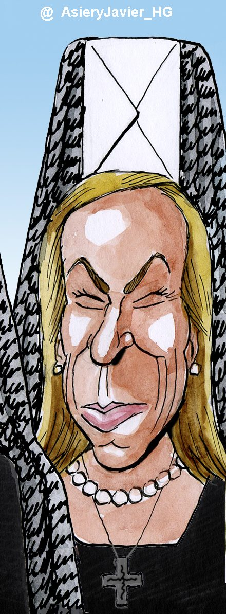 Caricatura de Ana Mato: dimisionaria y penitente