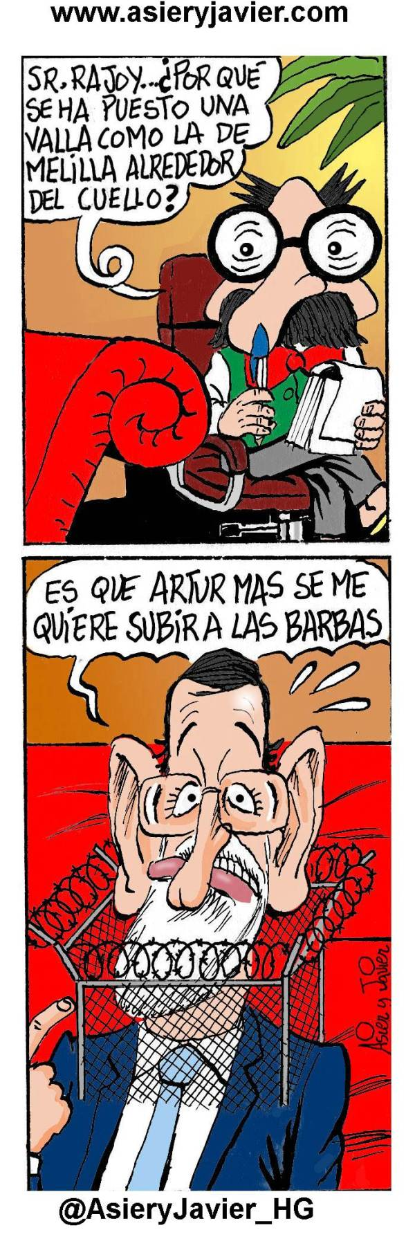 Rajoy encuentra nuevos usos para vallas como la de Melilla