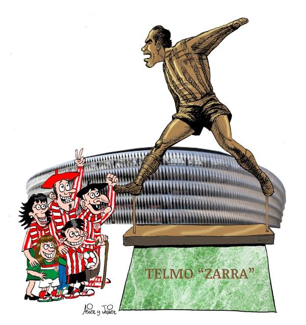 Muchos grandes futbolistas de todo el mundo son homenajeados con una escultura junto al estadio que vio sus azañas ¿Para cuando una de Zarra junto a San Mamés?