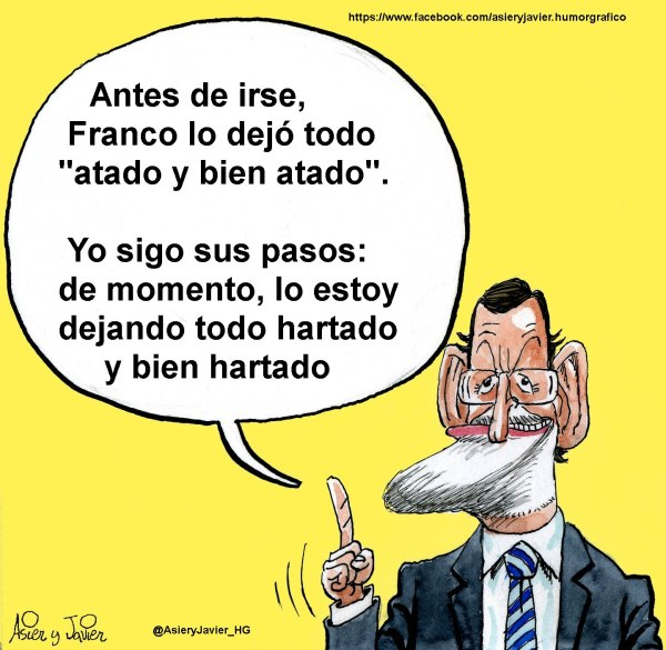 Rajoy lo quiere dejar todo atado y bien atado