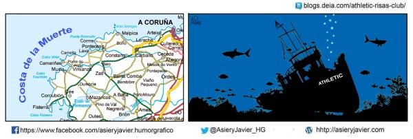 El Athletic naufraga en la costa liguera de La Coruña