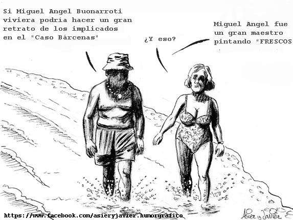 Miguel Angel Buonarroti podría hacer un gran mural con los implicados en el Caso Bárcenas