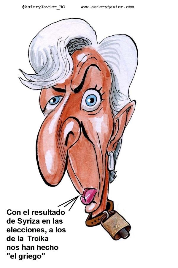 """Los votantes le hacen """"el griego"""" a la Troika, según Lagarde"""