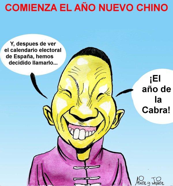 Comienza el Año Nuevo Chino. Año electoral en España.