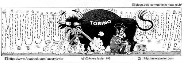 Valverde supo ordeñar al Toro en Turín en la eliminatoria de UEFA League entre el Athletic y el Torino