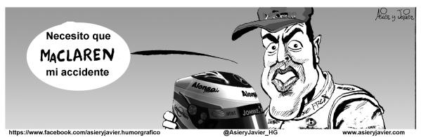 A Fernando Alonso le preocupan los puntos negros de su último accidente de probando el Maclaren de Fórmula 1
