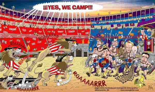 Los leones del Athletic, a por el Barça en la final de Copa del coliseo azulgrana.