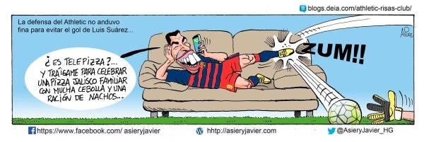 Un gol de Suarez dio la victoria al Barcelona en el primer partido de Liga en San Mamés
