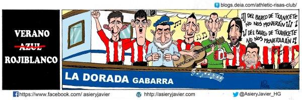 El Athletic de Bilbao vuelve a aferrarse a la gabarra para el partido de ida de la Supercopa de España en San Mamés contra el Barcelona
