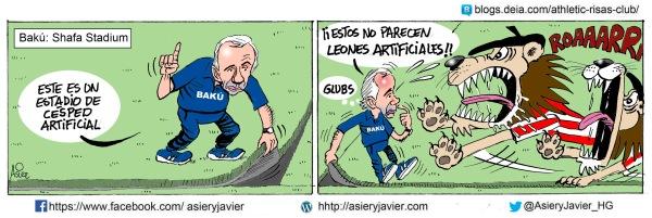 El Athletic sacará leones de verdad al césped artificial de Baku en la previa de la UEFA League