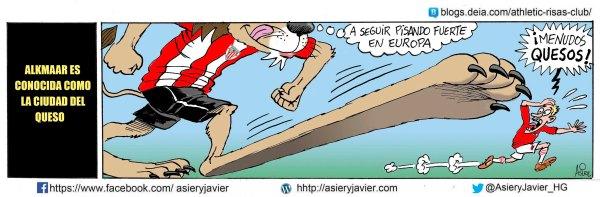El Athletic de Bilbao quiere seguir pisando fuerte en  Europa League en su visita al AZ Alkmaar