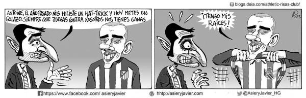 El exrealista Griezmann resultó decisivo en la derrota del Athletic en el Calderón