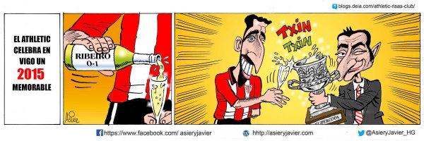 El Athletic corona con una importante victoria en Balaídos el año en que ganó la Supercopa