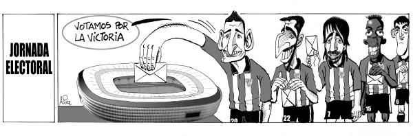 El Athletic juega contra el Levante en plena jornada electoral