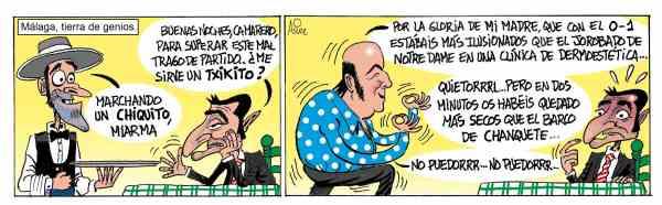 """El Athletic hizo el """"Chiquito"""" en Málaga y entonó el """"no puedoor"""""""