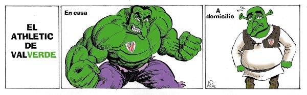 El Athletic volvió a demostrar en Las Palmas que es intratable en San Mamés pero cómico a domicilio