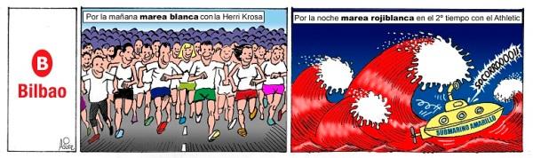 El Athletic ganó al Villarreal en San Mamés el día de la Herri Krosa