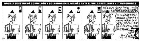 El Athletic recibe en San Mamés aun Villarreal ante el que Aduriz se estrenó como goleador rojiblanco hace 11 años