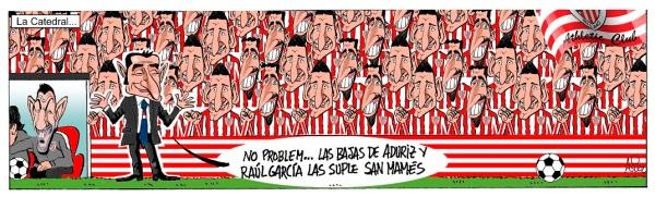 El Athletic afronta su partido ante el Eibar en San Mamés sin Raúl García ni Aduriz