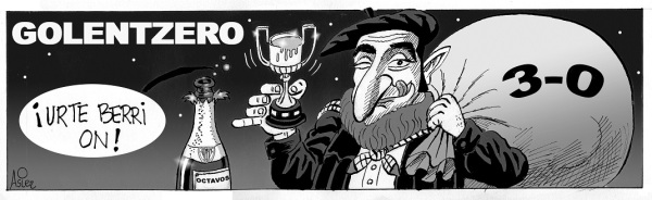 El Athletic se regaló el pase a octavos de Copa en el partido navideño ante el Racing en San Mamés