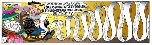 Poco antes de la llegada de Olentzero, el Athletic recibe al Racing en Copa