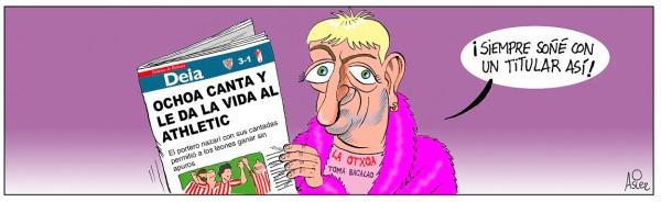 El Athletic ganó al Granada en San Mamés gracias a Ochoa