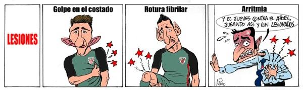 El Athletic pierde en Valencia en un partido liguero con lesionados