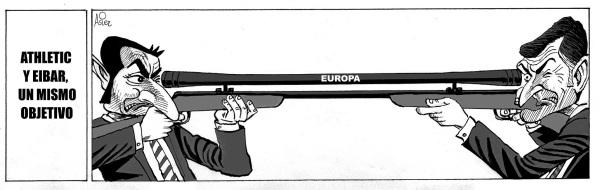 Athletic y Eibar se enfrentan hoy en un duelo fatricida con Europa en el punto de mira