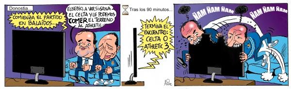 El Athletic gana al Celta en Vigo y no deja que la Real le coma ventaja