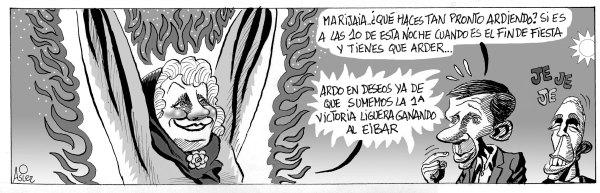 Marijaia arde en deseos de que el Athletic gane el partido liguero de Ipurua