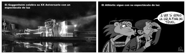 En el fin de semana de 'Reflections' en el Guggenheim, el Athletic busca en San Mamés la luz al final del túnel