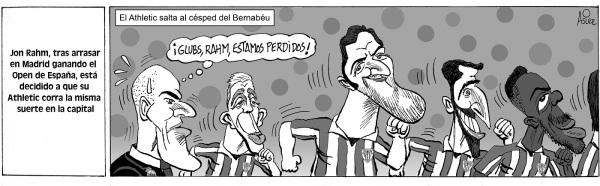 El Athletic toma medidas creativas para tratar de puntuar hoy en el Bernabeu